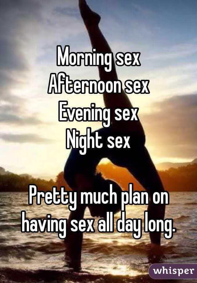 Having sex all day long