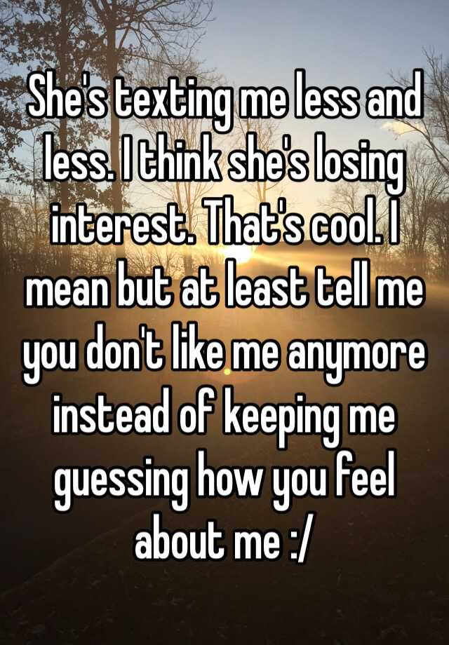 signs she is losing interest in you