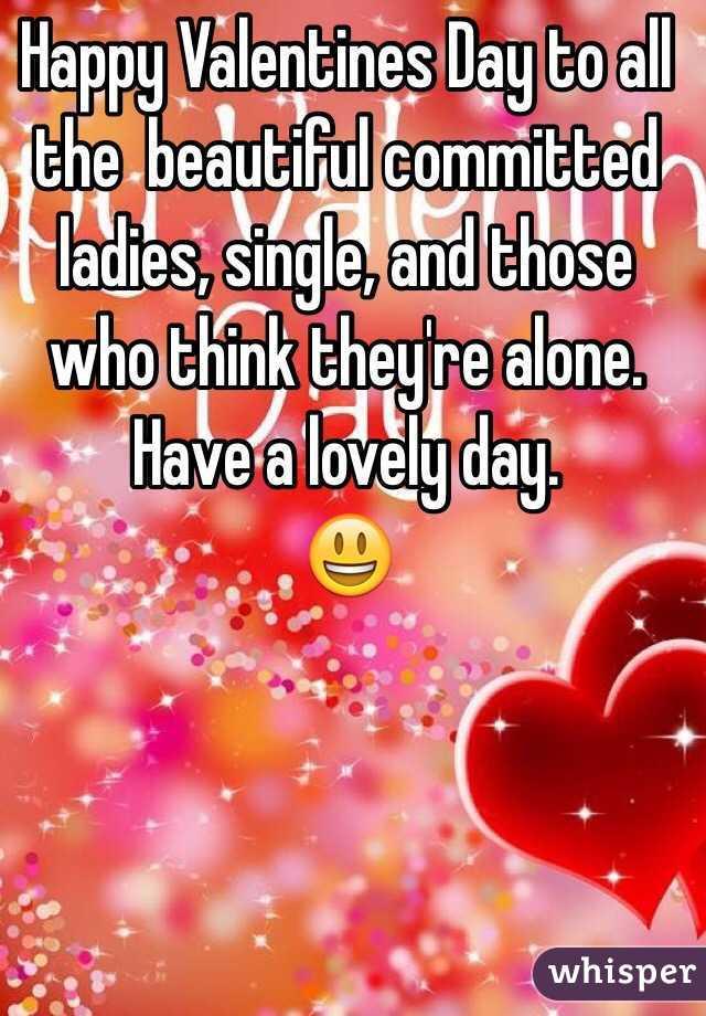 Happy valentines ladies