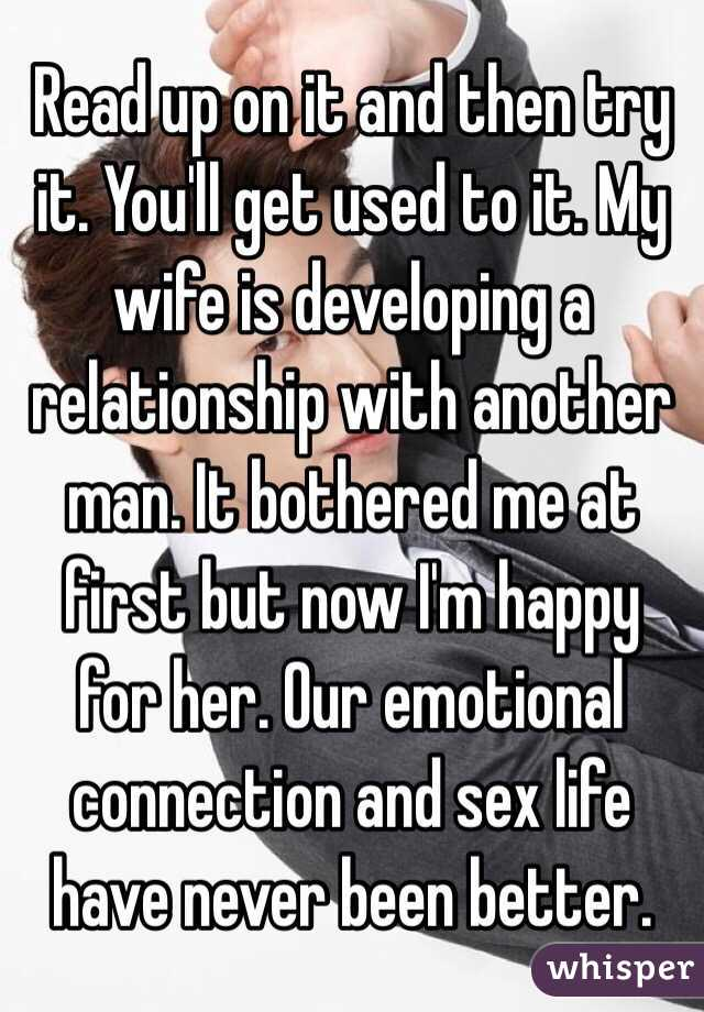 Wife with happy sex life