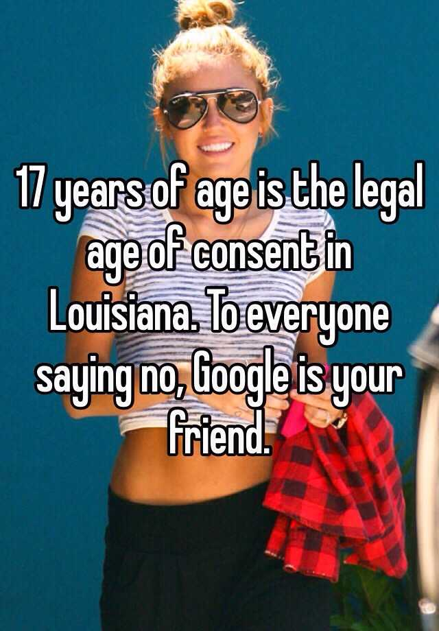 Legal age for sex in louisiana