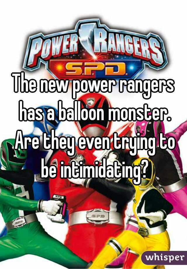 The new power rangers has a balloon monster. Are they even trying to be intimidating?