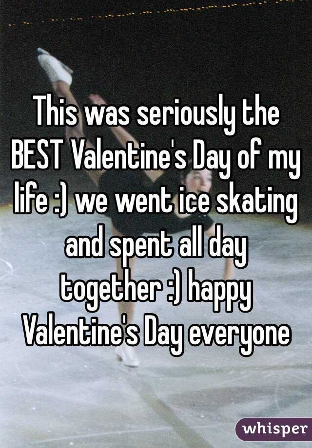 This was seriously the BEST Valentine's Day of my life :) we went ice skating and spent all day together :) happy Valentine's Day everyone
