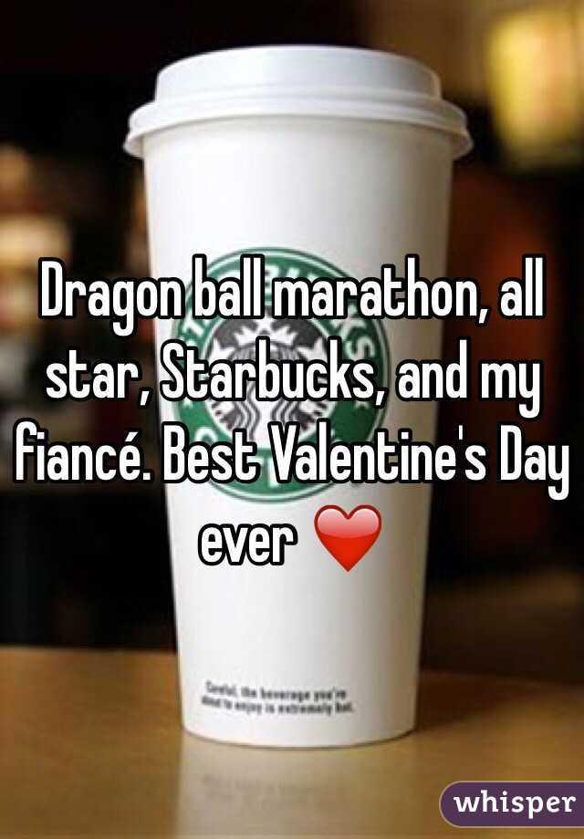 Dragon ball marathon, all star, Starbucks, and my fiancé. Best Valentine's Day ever ❤️