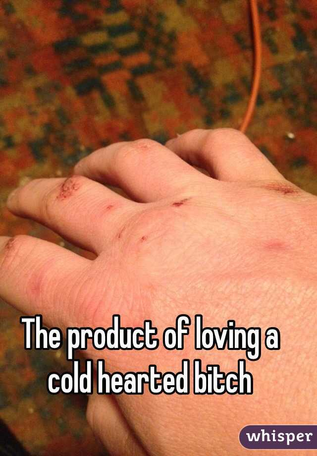 The product of loving a cold hearted bitch