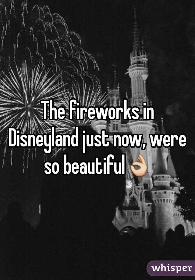 The fireworks in Disneyland just now, were so beautiful👌