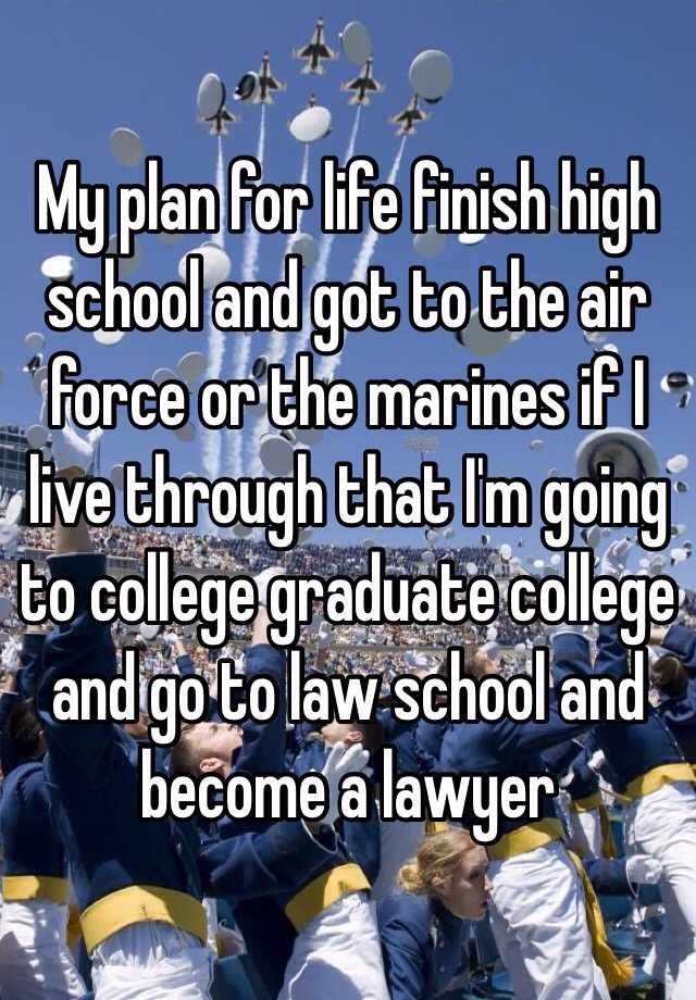 my plan after graduation in college