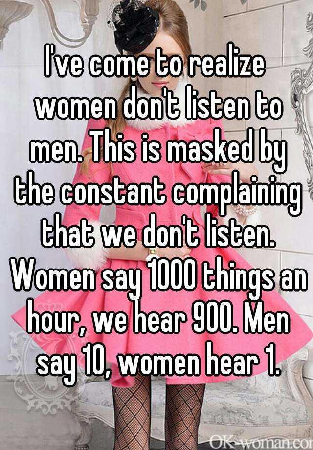 What what men women hear say What Men