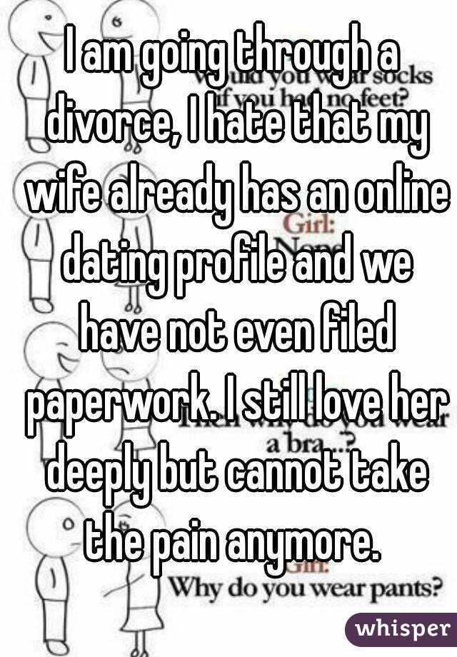 Not divorced yet but dating