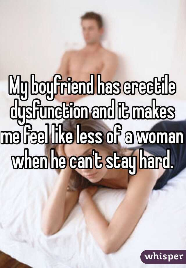 How do i talk to my boyfriend about erectile dysfunction