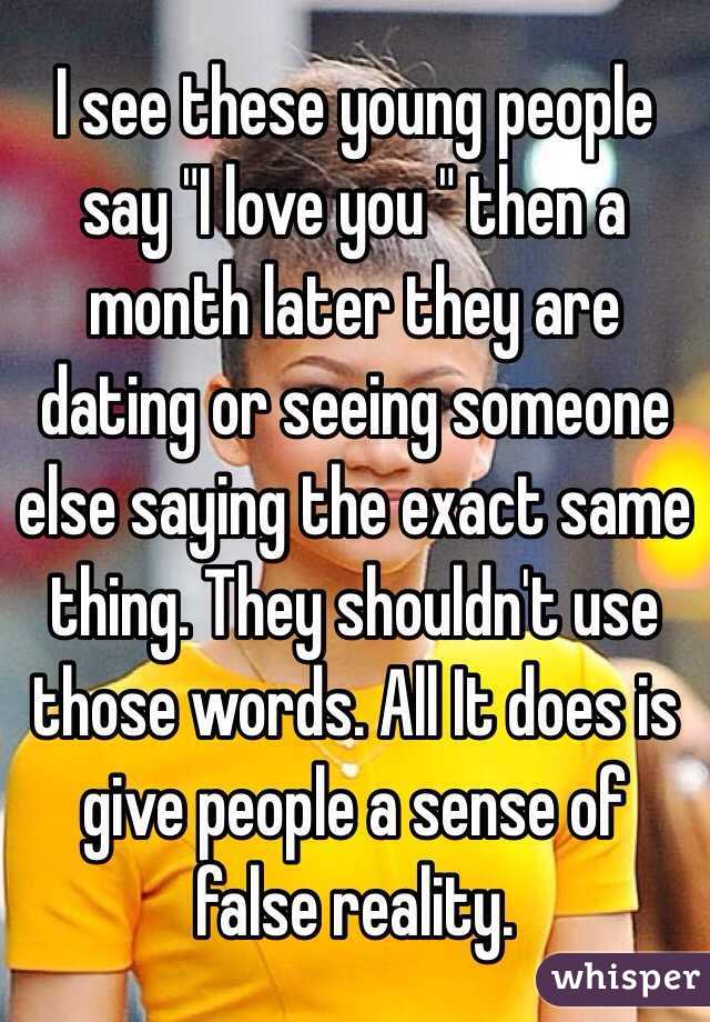 Is Seeing Someone And Dating The Same Thing