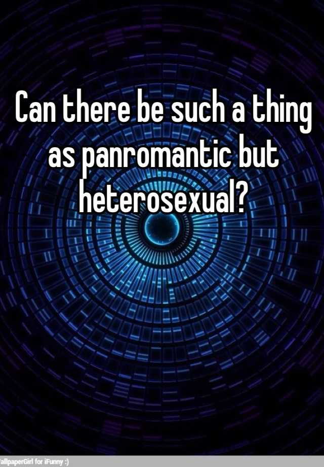 Panromantic heterosexual