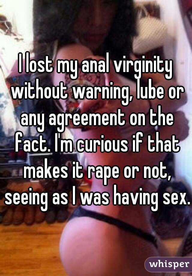 Anal sex no lube