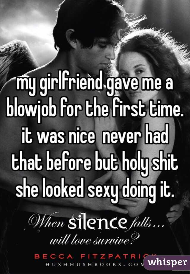 The first time i gave a blowjob