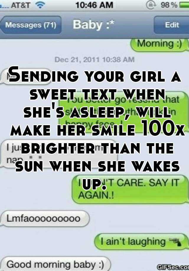 Sending Your Girl A Sweet Text When She S Asleep Will Make Her