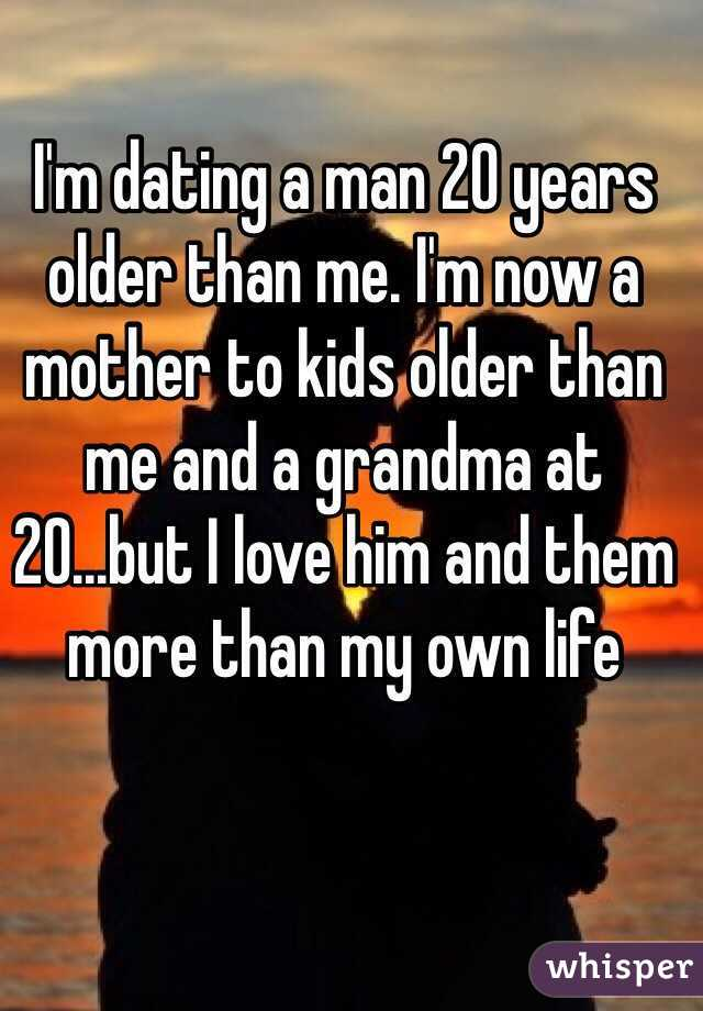 Im dating a man 20 years older
