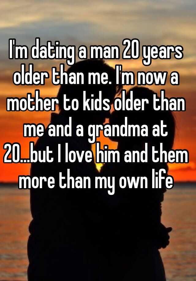 dating man 20 years older than me
