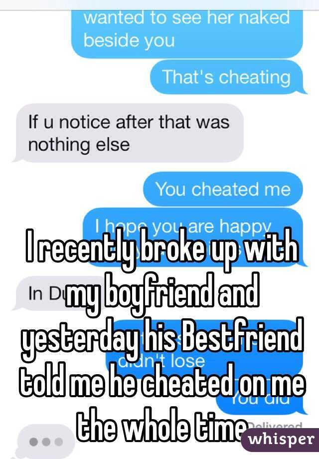 My bf cheated