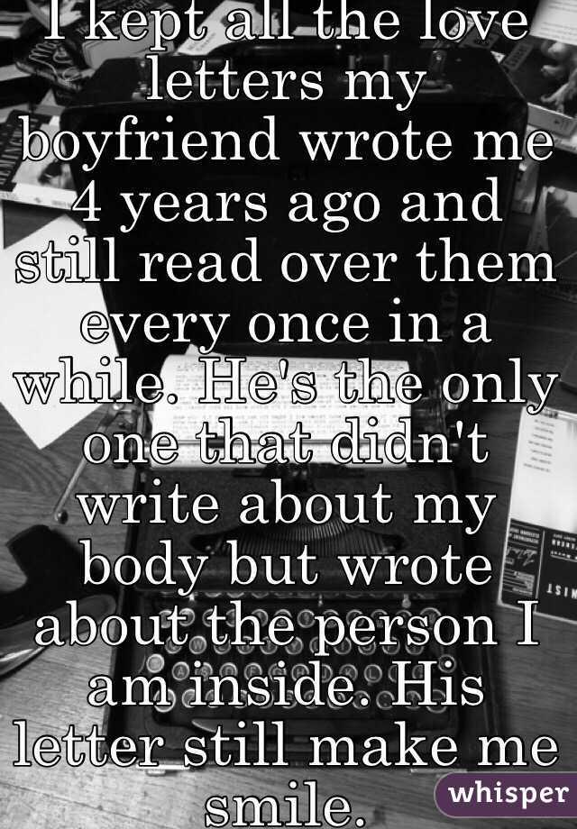 Love notes to my boyfriend