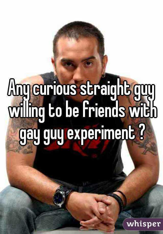Gay curious friends