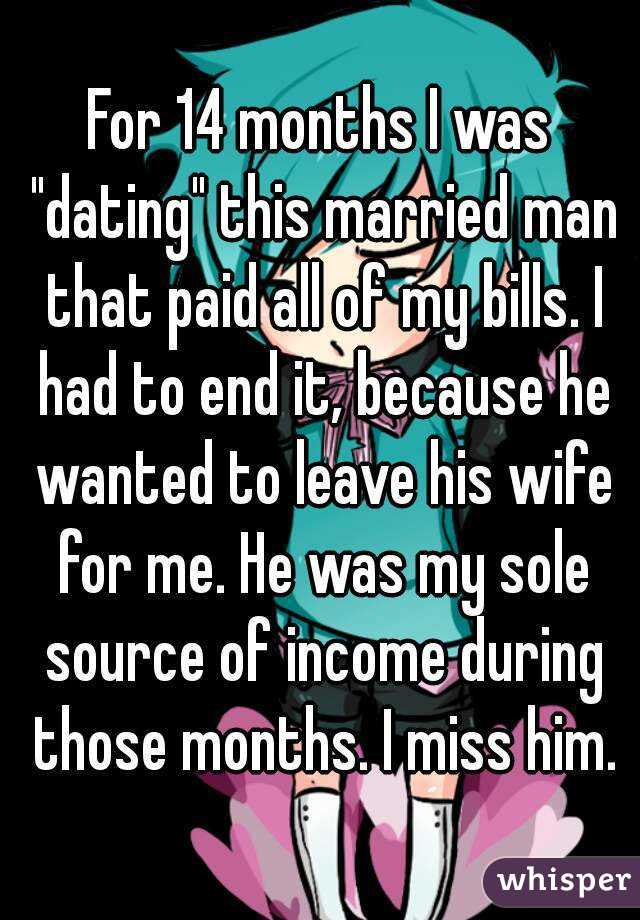 Dating a married man for 3 months
