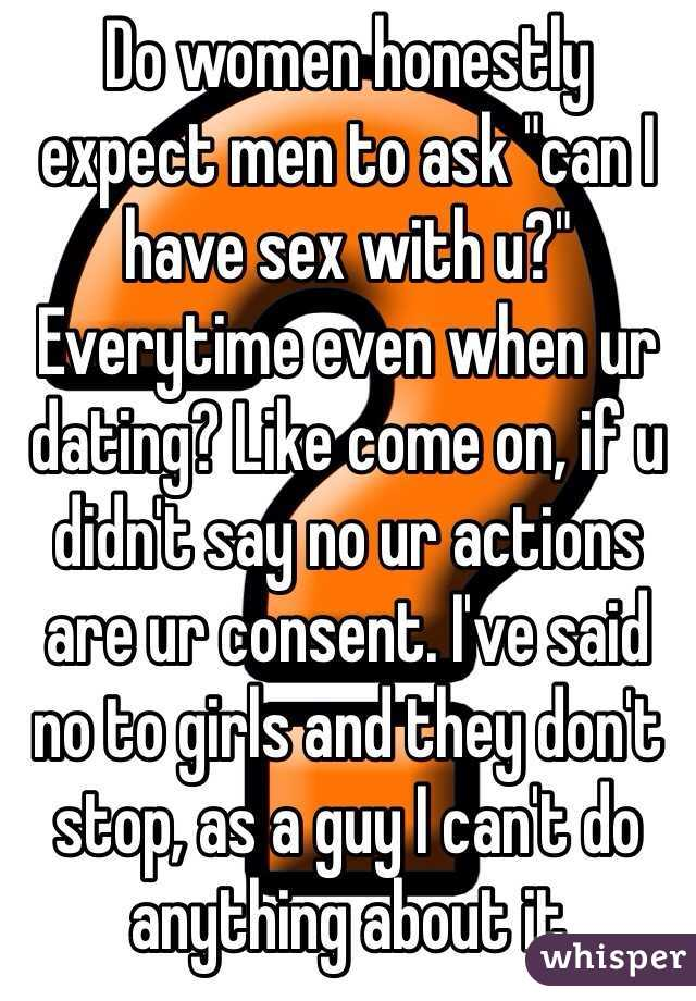 How To Ask A Woman For Sex