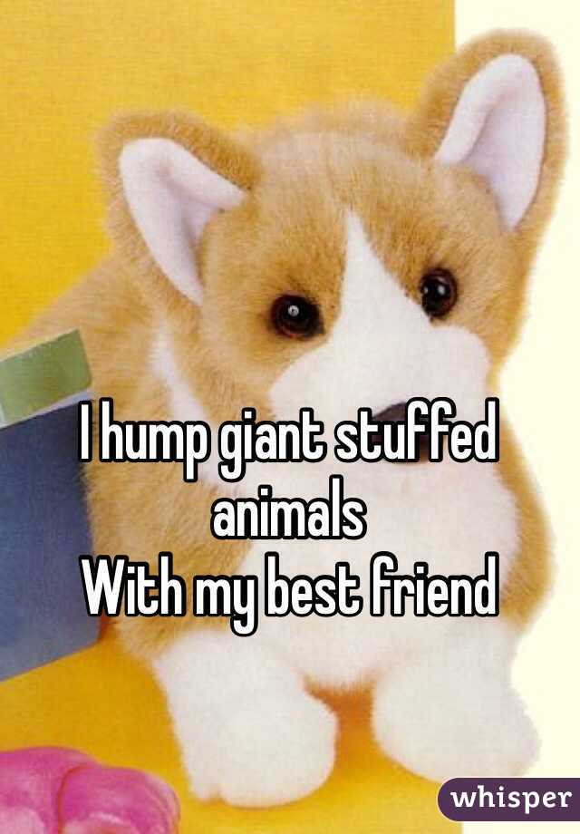 I Hump Giant Stuffed Animals With My Best Friend