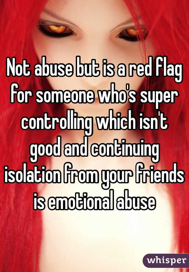 Emotional abuse red flags