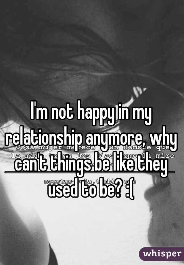 how can i be happy in my relationship