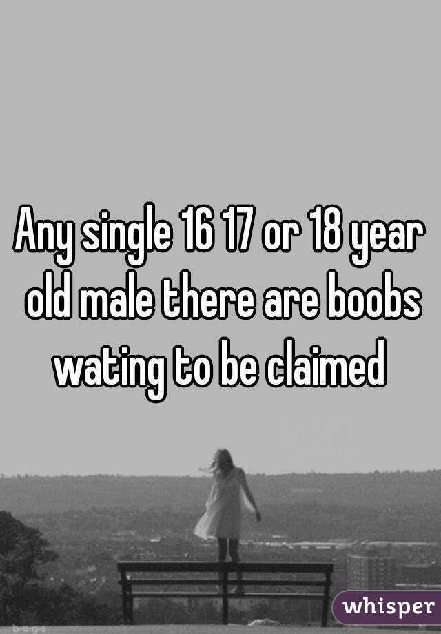 Any single 16 17 or 18 year old male there are boobs wating to be claimed