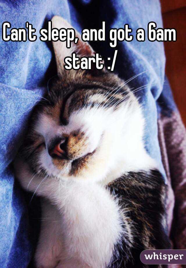 Can't sleep, and got a 6am start :/