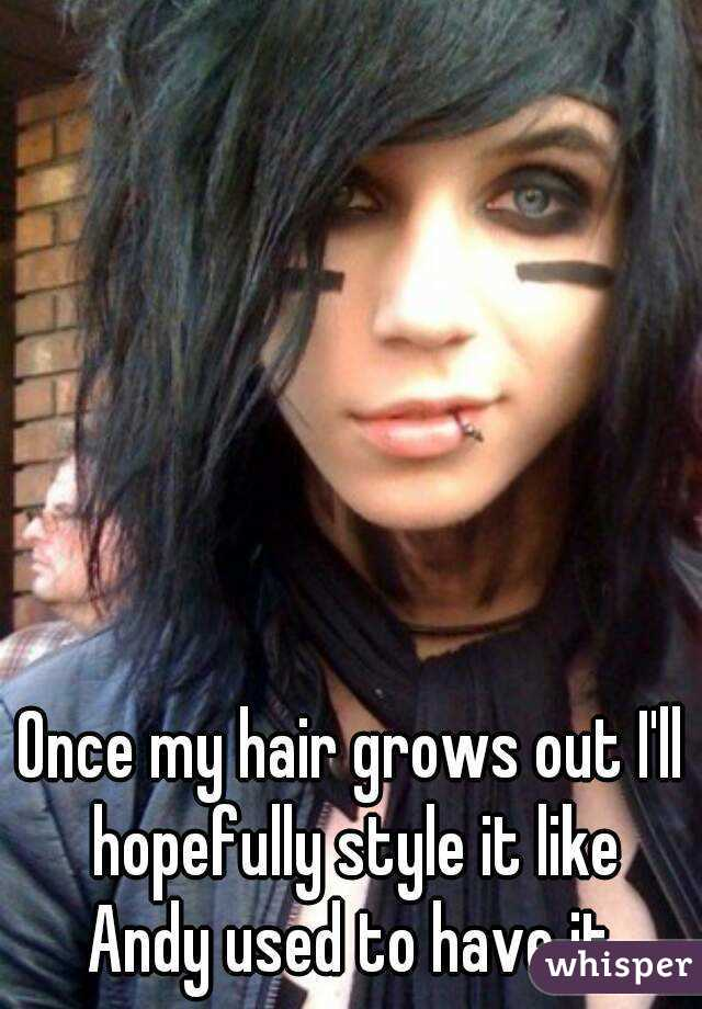 Once my hair grows out I'll hopefully style it like Andy used to have it