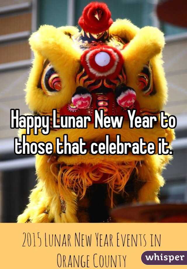 Happy Lunar New Year to those that celebrate it.