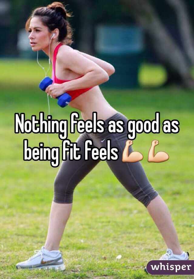 Nothing feels as good as being fit feels💪💪