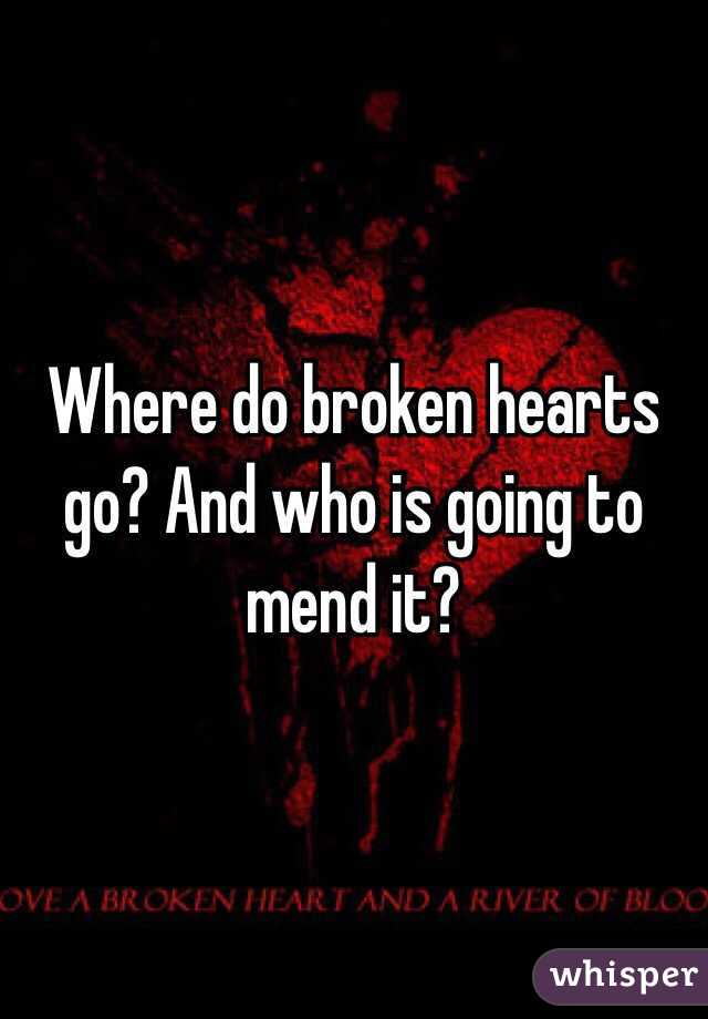 Where do broken hearts go? And who is going to mend it?