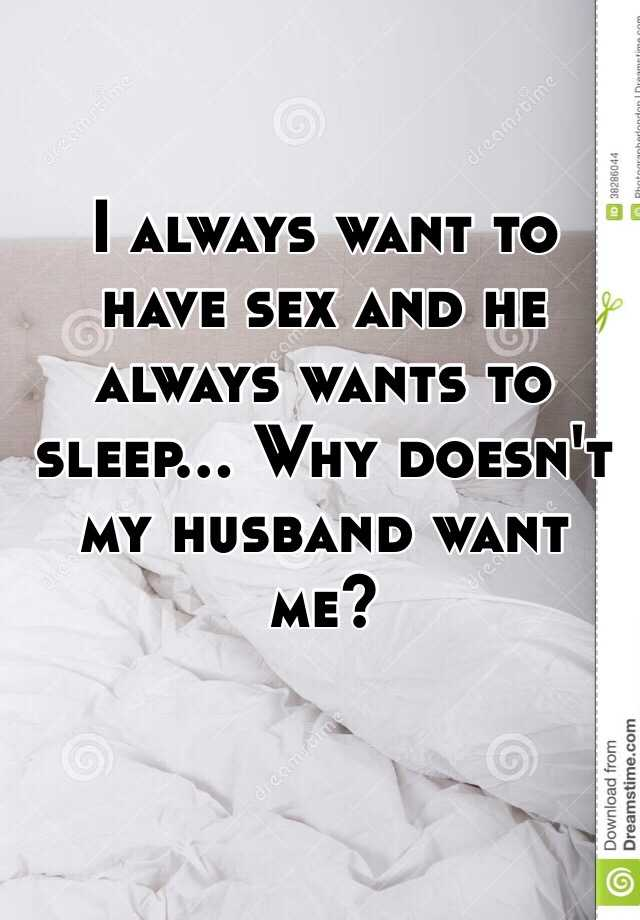 Why doesnt my husband want sex
