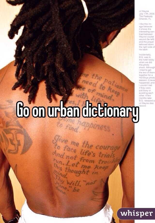 Go on urban dictionary
