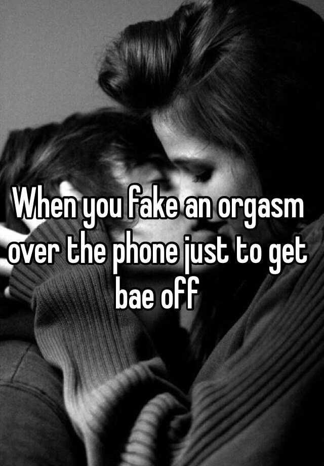 Phone orgasm