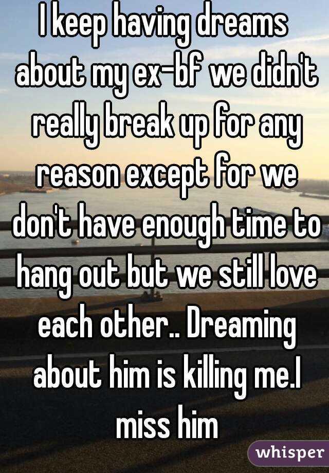 why did i dream of my ex boyfriend