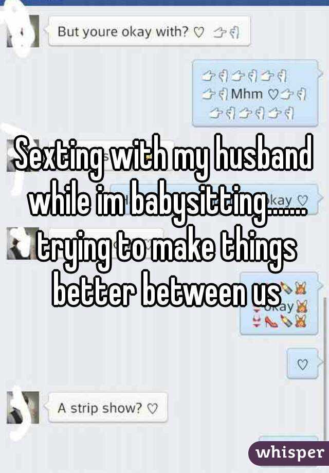 How to do sexting with your husband
