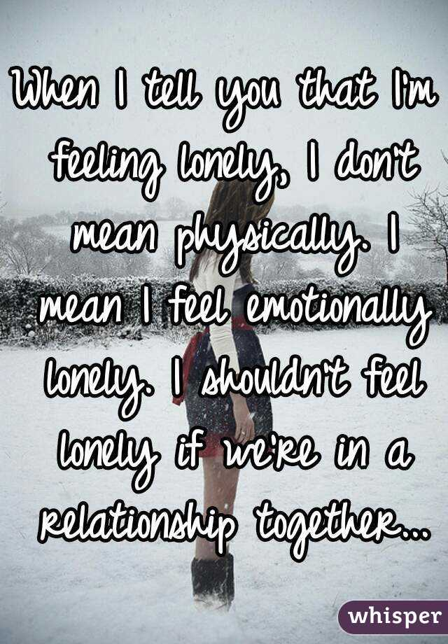 I Am So Lonely In My Relationship