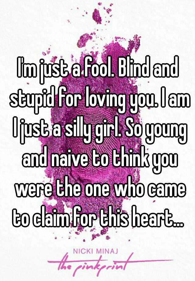 Im just a fool for you lyrics