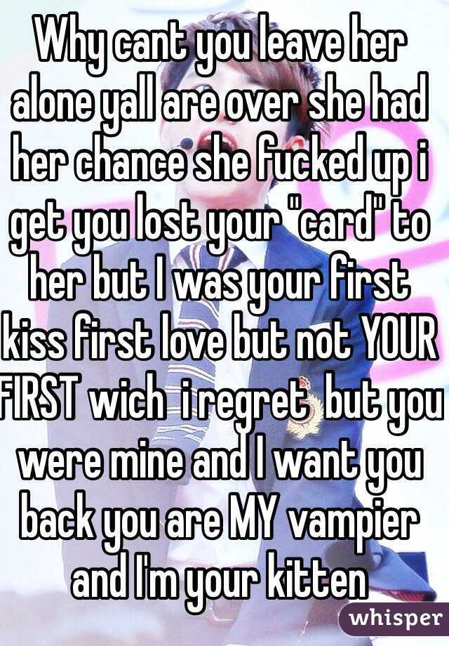 you have lost your first love