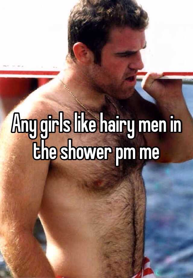 Shower and hairy chest