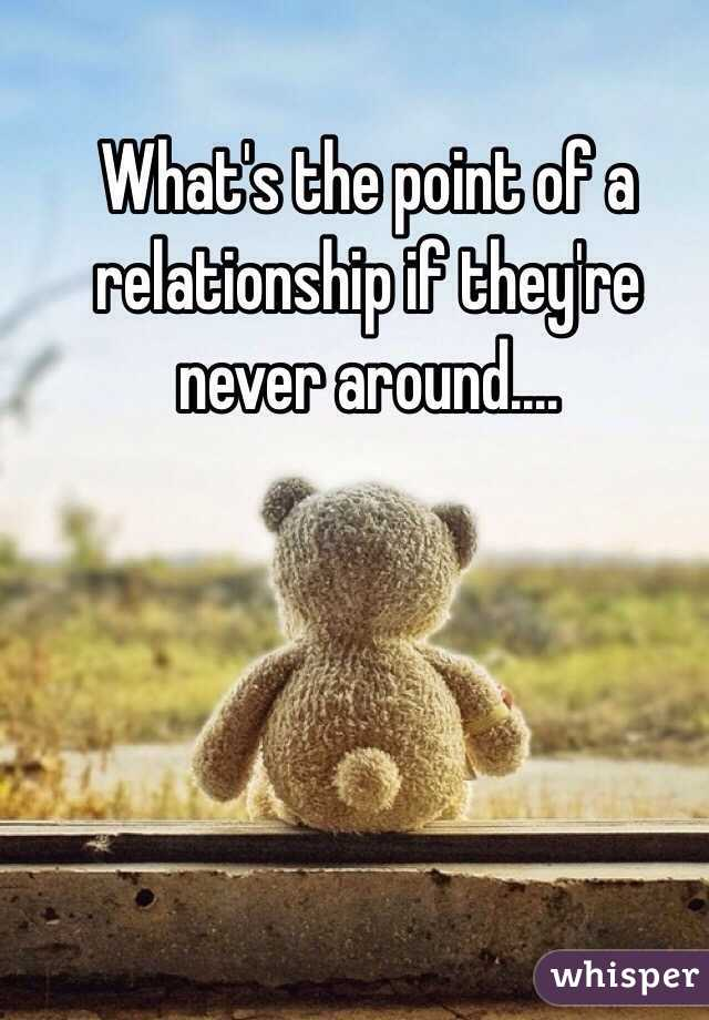 what is the point of a relationship