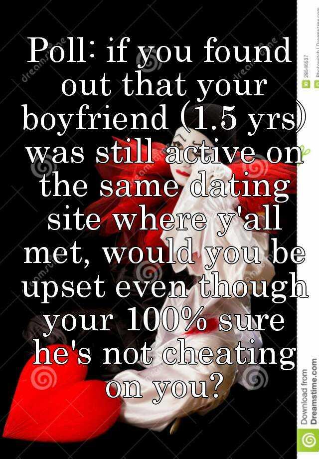 Boyfriend still active on dating site
