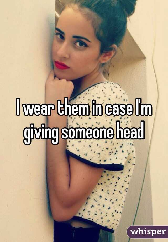 Giving a head to someone