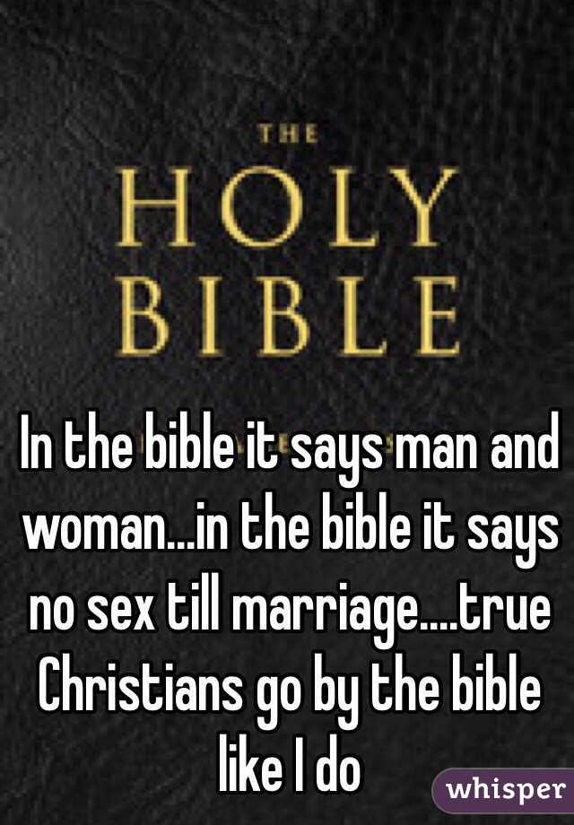 Where in the bible does it say no sex