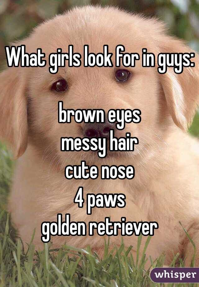 what girls look for in boys