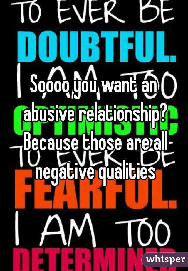 qualities of an abusive relationship